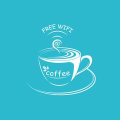 Internet cafe poster design, vector illustration