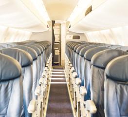 Aircraft cabin before flight