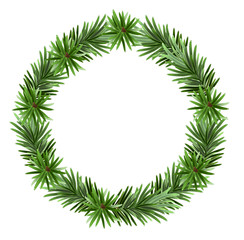 Christmas frame spruce branches