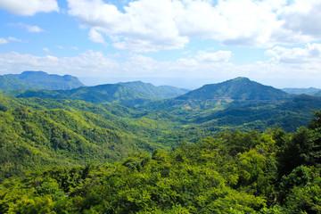 Landscape of layer mountain, Phetchabun ,Thailand