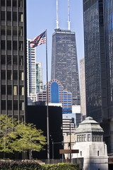 Wall Mural - Distant view of Hancock Tower