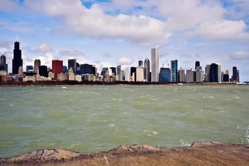 Fototapete - Panorama of Chicago
