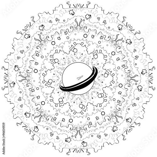 Mandala espace paysage intergalactique immagini e - Mandala paysage ...