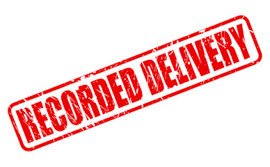 RECORDED DELIVERY red stamp text
