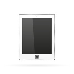 White tablet in a realistic style on a white background