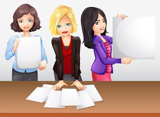 Businesswomen working in team