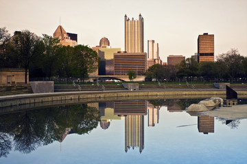 Wall Mural - Downtown Pittsburgh reflected