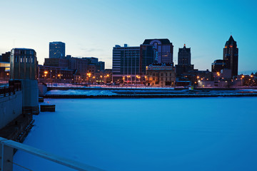 Fototapete - Panoramic Milwaukee