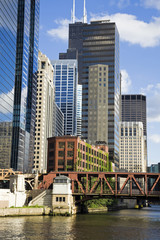 Fotomurales - Buildings along Chicago River
