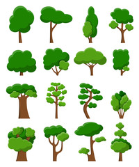 Set of sixteen vector trees