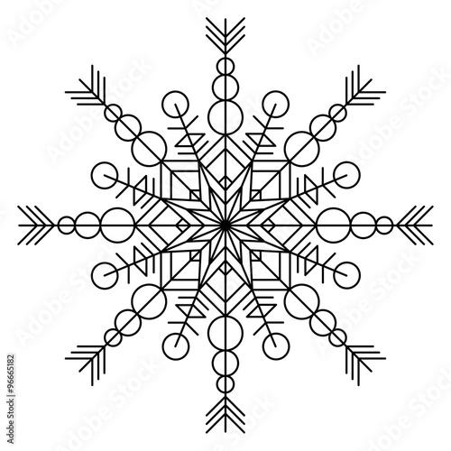Snowflake coloring book\