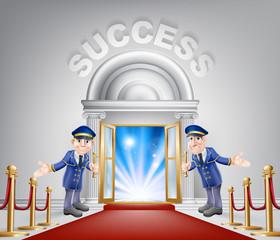 Success Red Carpet Entrance