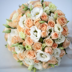 Wedding bouquet on white