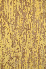 Plastered brown and yellow wall