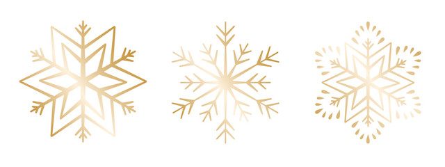 Schneeflocke 12er-Set #1 – gold
