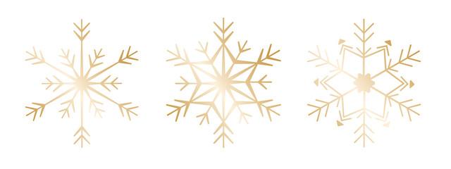 Schneeflocke 12er-Set #2 – gold