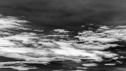 dramatic cloud in black and white