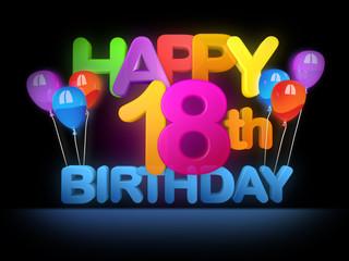 Happy 18th Birthday Title dark