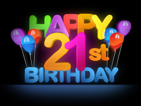 Happy 21st Birthday Title dark