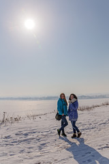 under the winter sun