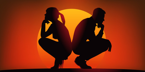 Couple conflit - Crepuscule