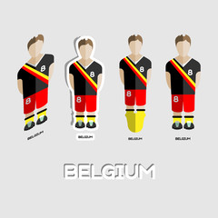 Belgium Soccer Team Sportswear Template