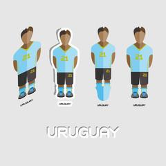 Uruguay Soccer Team Sportswear Template