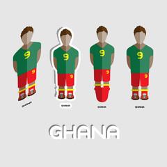 Ghana Soccer Team Sportswear Template