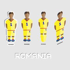 Romania Soccer Team Sportswear Template