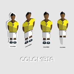 Colombia Soccer Team Sportswear Template