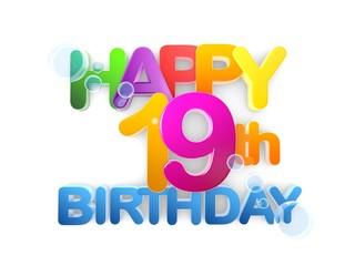 Happy 19th Birthday Title light