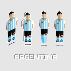 Argentina Soccer Team Sportswear Template