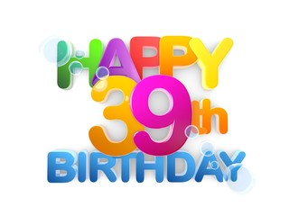 Happy 39th Title, Birthday light