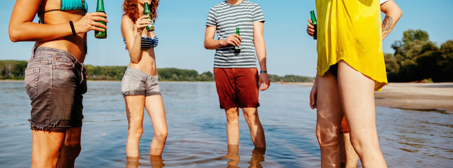 Hipster Friends At The Beach