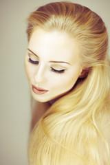 young beautiful woman beauty shot