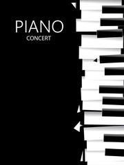 Abstract Music Art, Piano Poster (Vector Art)