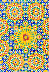 Colorful patterned ceramic tiles