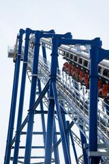 modern roller coaster amusement park Italy