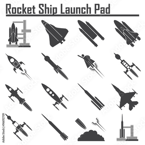 """""""Space Shuttle Launch icon."""" Stock image and royalty-free ..."""