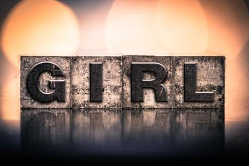 Girl Concept Vintage Letterpress Type