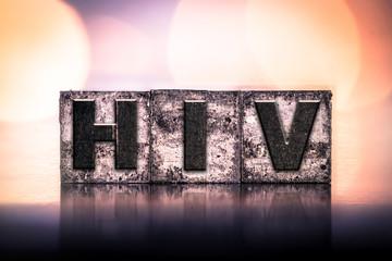 HIV Concept Vintage Letterpress Type