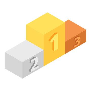 Winners podium isometric 3d icon