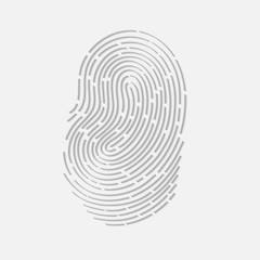 Touch fingerprint id app with shadows vector illustration