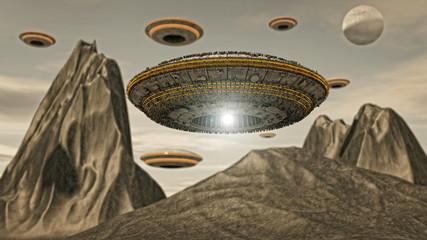 Futuristic UFO ship