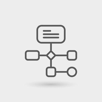 workflow thin line icon