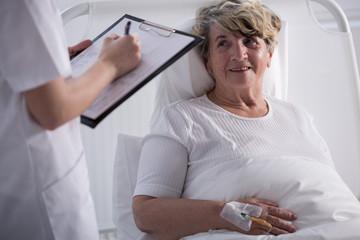 Positive hospital patient
