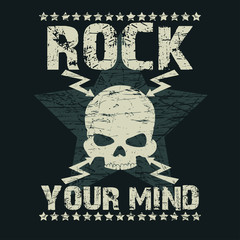 Rock t-shirt Typography