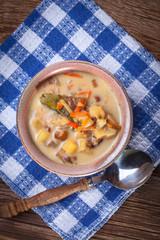 Tasty mushroom soup.