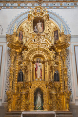 Ganada - carved altar of Heart of Jesus in Iglesia de san Anton church