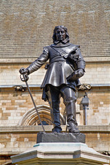London - The Oliver Cromwell memorial by Hamo Thornycroft
